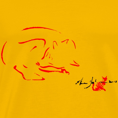 VOLPE ROSSA,FOX,RED FOX, VOLPE,VOLPE CHE DORME, - Maglietta Premium da uomo