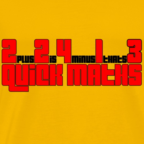 QUICKMATHS - Männer Premium T-Shirt