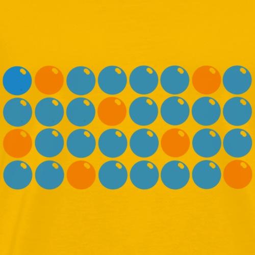 Yksiviidestä logo - Miesten premium t-paita