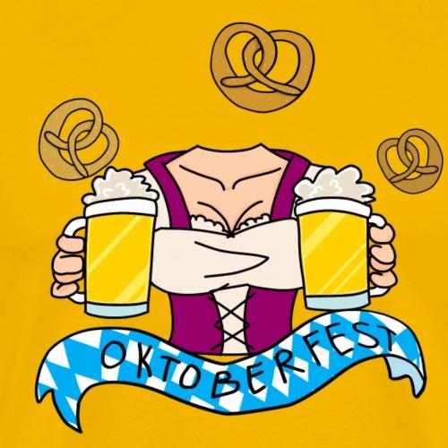 Oktoberfest Bier und Brezen