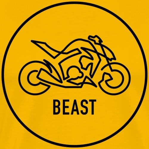 »One Line« Motorcycle - »BEAST« - Männer Premium T-Shirt