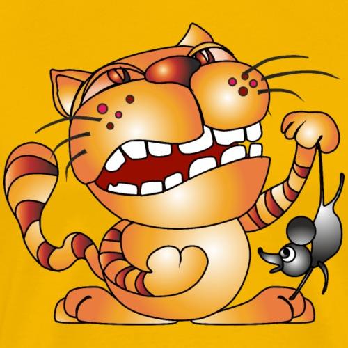 Katze und Maus - Männer Premium T-Shirt