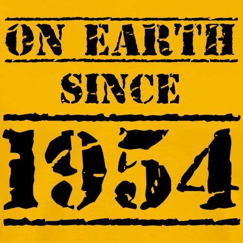 on Earth since 1954 65 Geburtstag Happy Birthday - Men's Premium T-Shirt