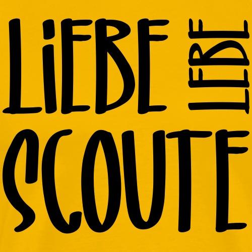Liebe Lebe Scoute Typo - Farbe frei wählbar - Männer Premium T-Shirt