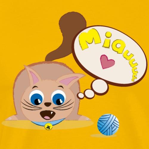 Gato Jugando - Camiseta premium hombre
