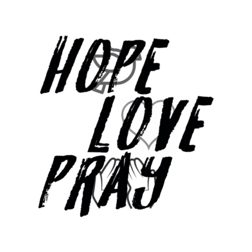 HOPE LOVE PRAY - Männer Premium T-Shirt
