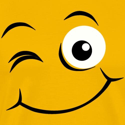 Visage heureux Emoji - T-shirt Premium Homme