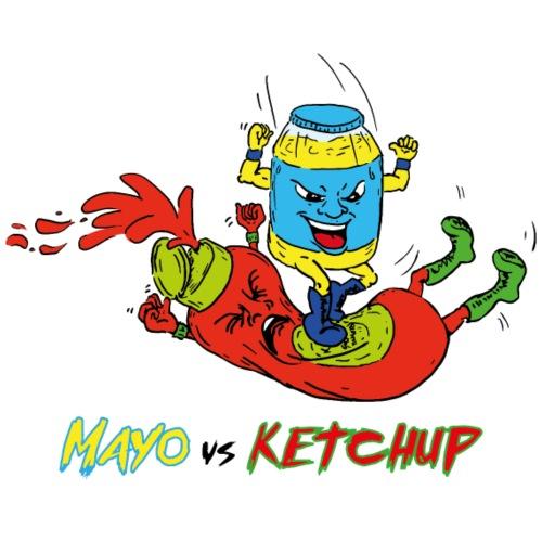 Mayo VS Ketchup - Maglietta Premium da uomo