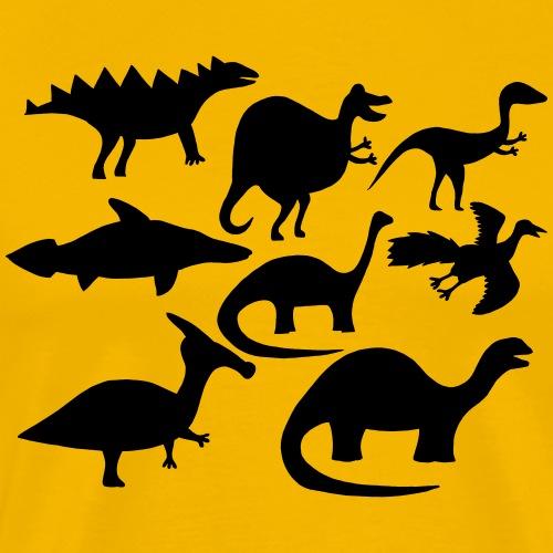 Dinosaurier_black - Männer Premium T-Shirt