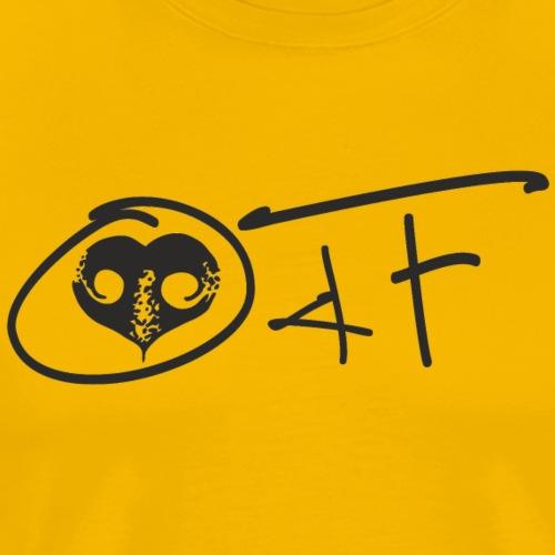 O4F NERO - Maglietta Premium da uomo