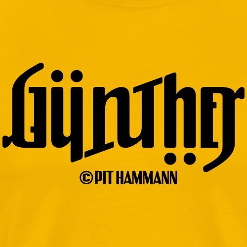 Ambigramm Günther 01 Pit Hammann - Männer Premium T-Shirt