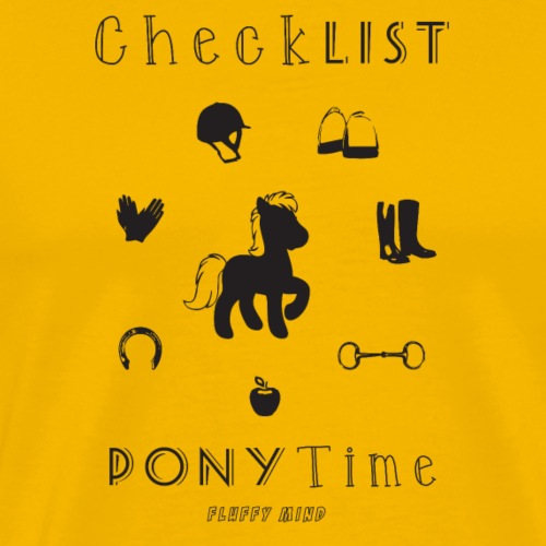 Poney - CheckList - T-shirt Premium Homme