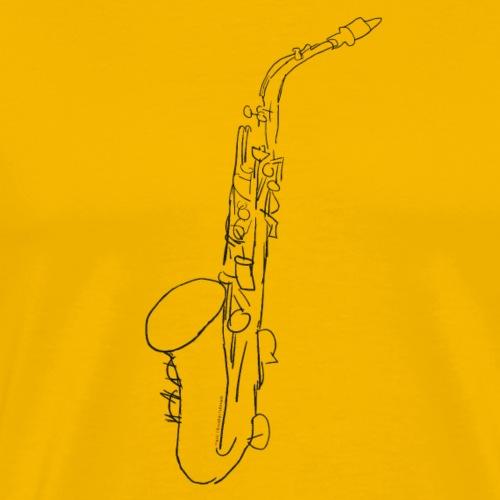 Alt Saxofon in schwarz - Männer Premium T-Shirt
