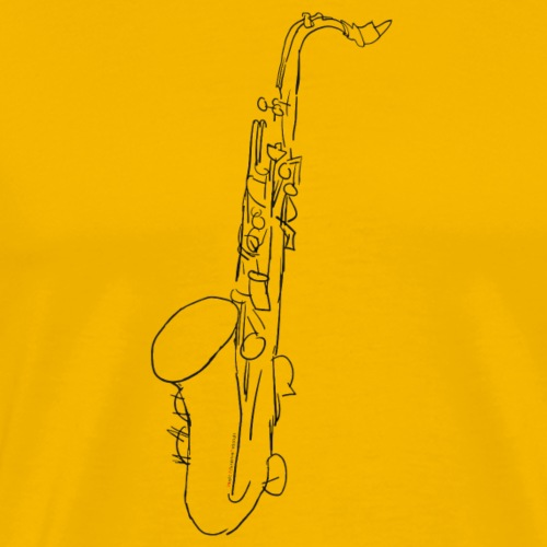 Tenor Saxofon in schwarz - Männer Premium T-Shirt