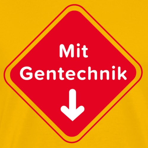 Mit Gentechnik von Anna & Fritz - Männer Premium T-Shirt