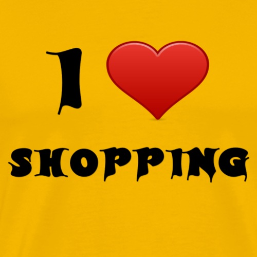 i love shopping - Männer Premium T-Shirt