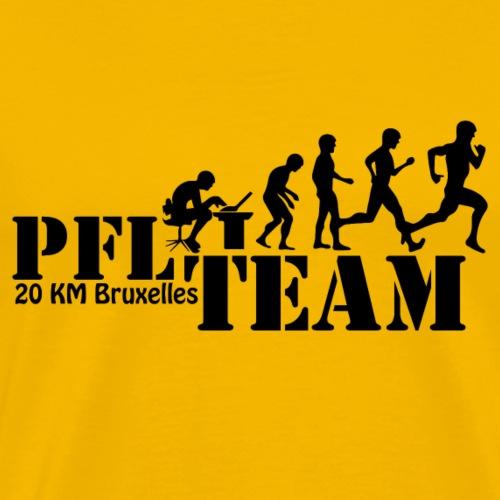 Run PFL Black - T-shirt Premium Homme