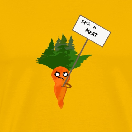 Carrot Protesting Stick to Meat - Men's Premium T-Shirt