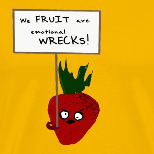 Strawberry Protesting Vegans - Men's Premium T-Shirt