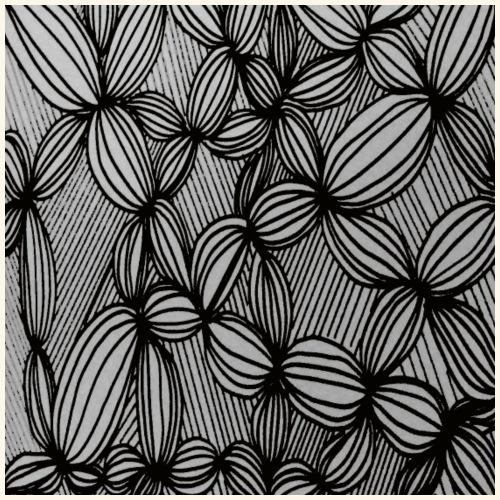 Linee curve in bianco e nero - Maglietta Premium da uomo