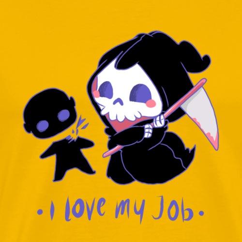 Crâne avec faux décapitant une poupée - T-shirt Premium Homme