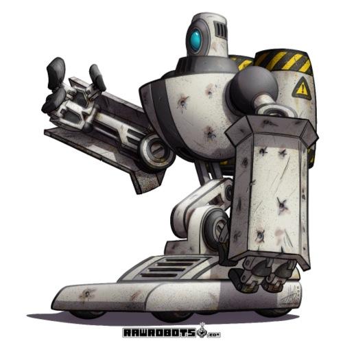 The S.H.I.E.L.D. Robot! - Herre premium T-shirt