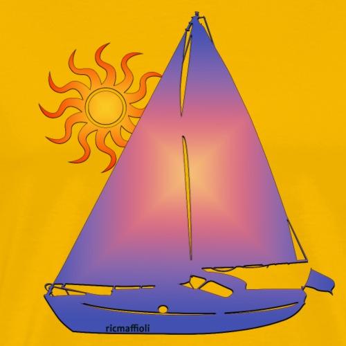 Barca e sole - Maglietta Premium da uomo