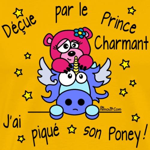 Licorne Prince Charmant St Valentin Poney - T-shirt Premium Homme