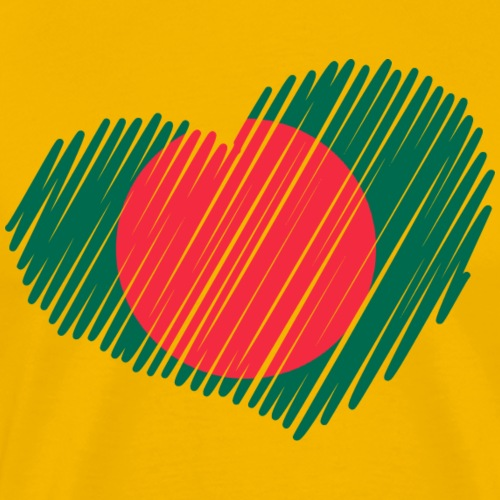 coeur bangladesh drapeau - T-shirt Premium Homme