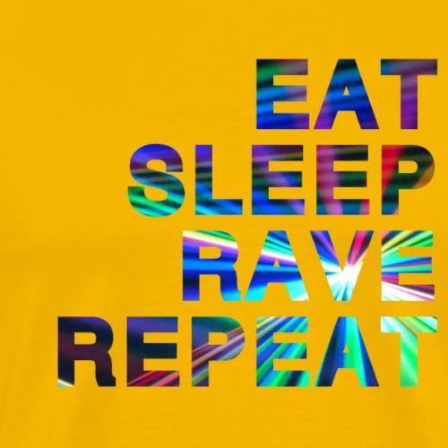 Eat Sleep Rave Repeat - Lasers - T-shirt Premium Homme