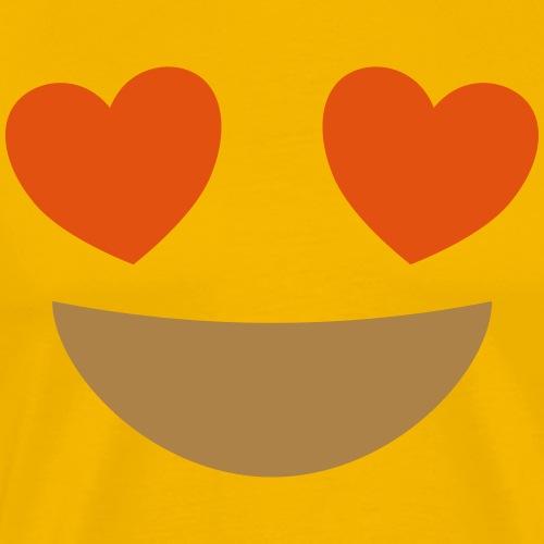 Emoji smiling face with heart eyes - Men's Premium T-Shirt
