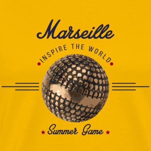 Marseille inspire the world Bleu - T-shirt Premium Homme