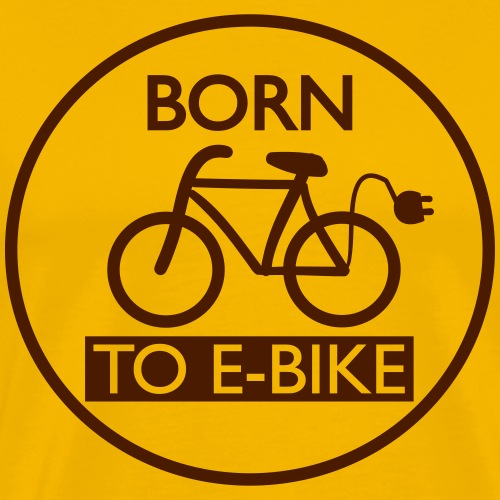 Born To E-Bike - Männer Premium T-Shirt