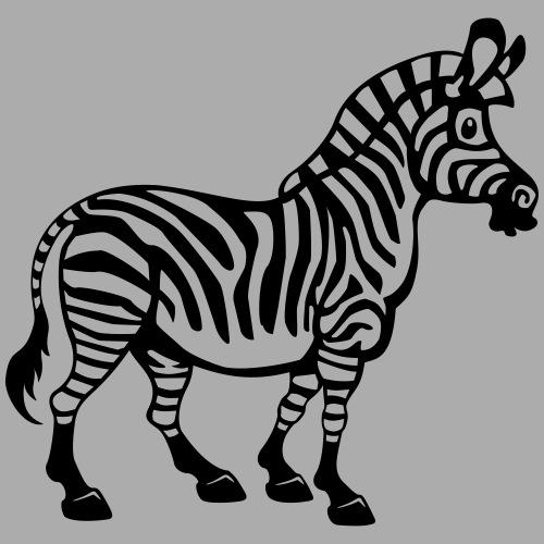 Dickes, süßes Cartoon Zebra - Männer Premium T-Shirt