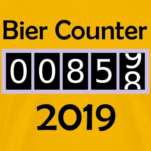 Bier counter / Bier Zähler 2019 deutsch - Männer Premium T-Shirt