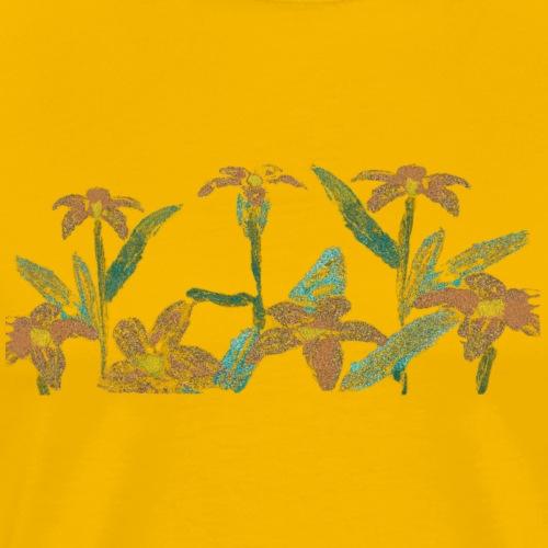 margaritas oleo - Camiseta premium hombre