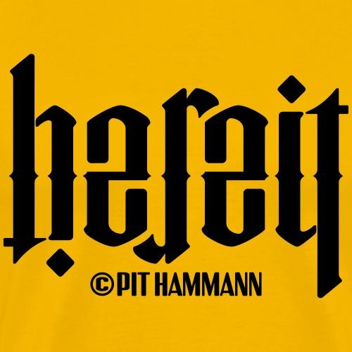 Ambigramm Bereit 01 Pit Hammann - Männer Premium T-Shirt