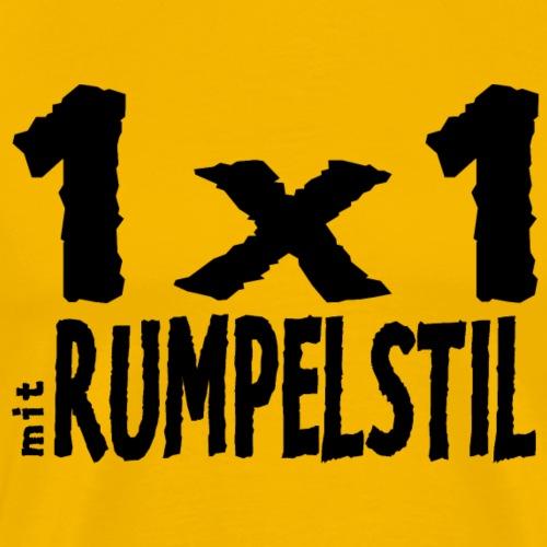 1x1 mit RUMPELSTIL - Männer Premium T-Shirt