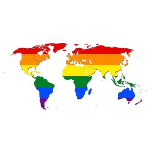 RAINBOW WORLD - LOVE Is LOVE - GAYPRIDE - Männer Premium T-Shirt