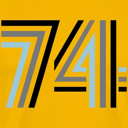 74 disco II - Männer Premium T-Shirt
