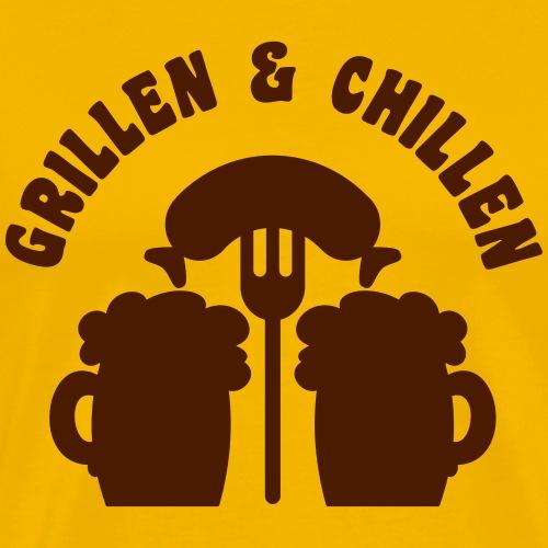 grillenundchillen2 - Männer Premium T-Shirt