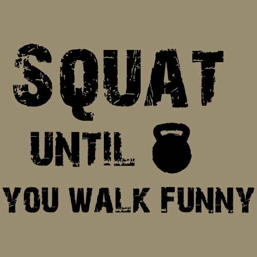 shirtsbydep squat - Mannen Premium T-shirt