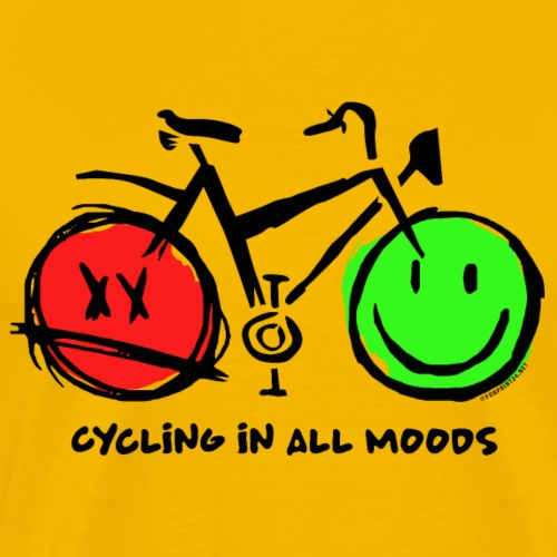 Cycling in all Moods - Trippers Textiles and Gifts - Miesten premium t-paita