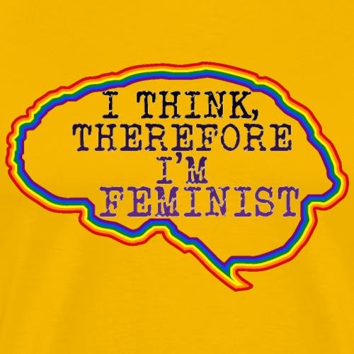 Cerebro - Pienso, luego soy feminista - Camiseta premium hombre