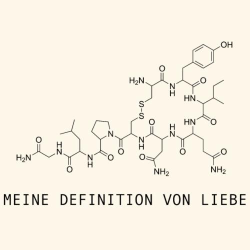 Meine Definition von Liebe // Oxytocin - Männer Premium T-Shirt