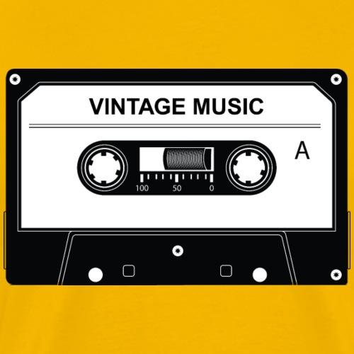 Vintage Musique Cassette - T-shirt Premium Homme