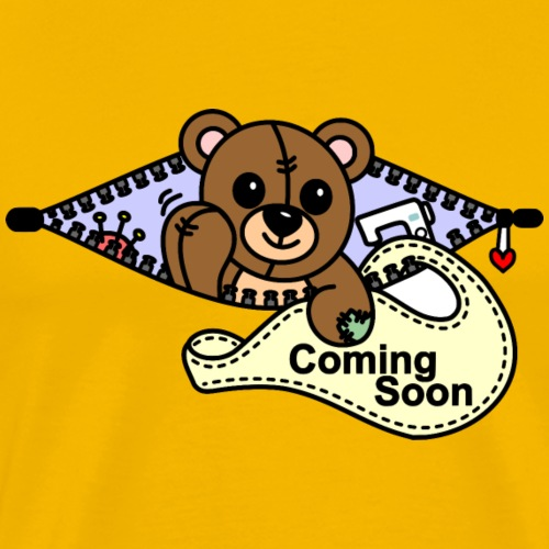 Bärchen Nähmaschine Coming Soon - Männer Premium T-Shirt