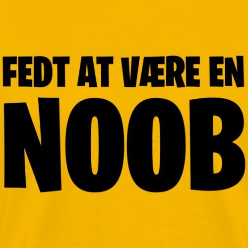 Fedt at være en noob (sort) - Herre premium T-shirt