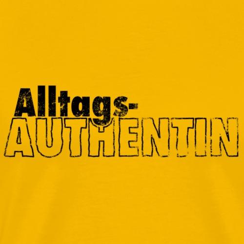 AlltagsAUTHENTIN schwarz - Männer Premium T-Shirt