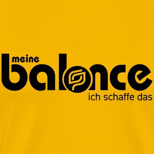 Meine Balance 1-farbig - Männer Premium T-Shirt